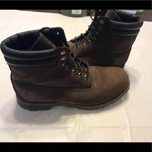 Timberland Mens Size 13 Brown Suede Boots Size 13